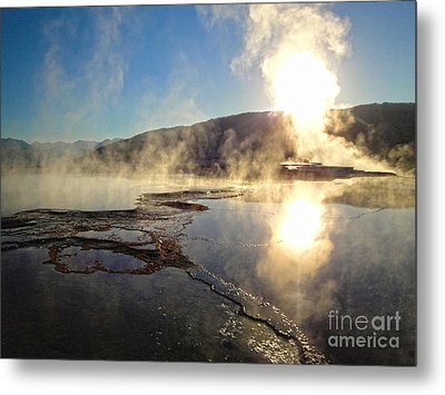 Yellowstone National Park - Minerva Terrace - 02 Metal Print by Gregory Dyer