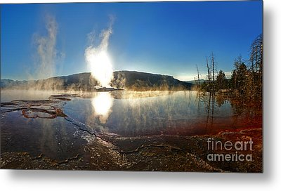 Yellowstone National Park - Minerva Terrace - 06 Metal Print by Gregory Dyer