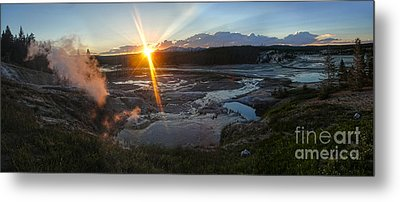 Yellowstone Norris Geyser Basin At Sunset - 02 Metal Print by Gregory Dyer