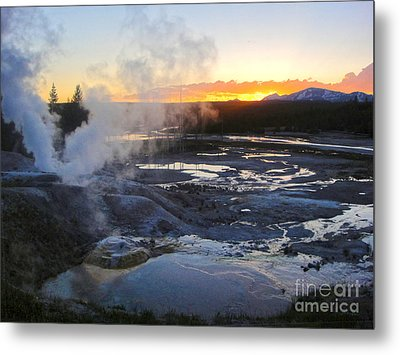 Yellowstone Norris Geyser Basin At Sunset - 03 Metal Print by Gregory Dyer