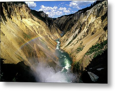 Yellowstone River Over The Falls Metal Print