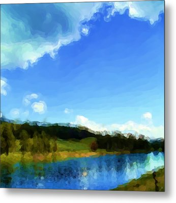 Metal Print featuring the painting Yellowstone River by Susan Fisher