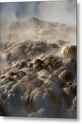 Metal Print featuring the photograph Yellowstone Steam by J L Woody Wooden