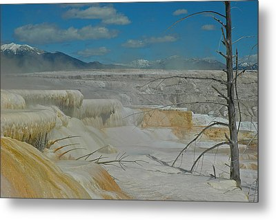 Yellowstone's Canary Springs Metal Print by Bruce Gourley