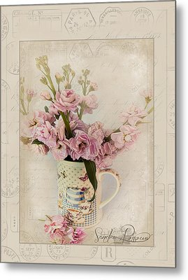 Yesterday's Letter  Metal Print by Sandra Rossouw