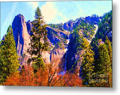 Yosemite In The Fall . 7d6287 Metal Print by Wingsdomain Art and Photography