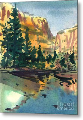 Yosemite Valley In January Metal Print by Donald Maier