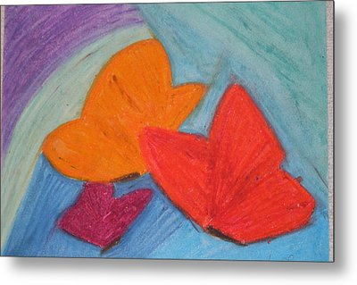 You Give Me Butterflies Metal Print