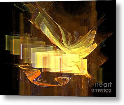 You Have Got A Message - Abstract Art Metal Print by Abstract art prints by Sipo