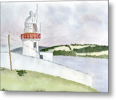 Youghal Lighthouse Metal Print by Eva Ason