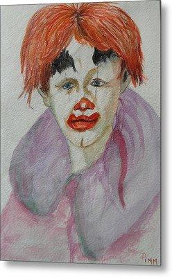 Young Clown Metal Print