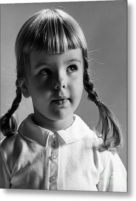Young Girl Metal Print by Hans Namuth and Photo Researchers