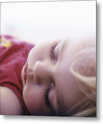 Young Girl Sleeping Metal Print by Cristina Pedrazzini