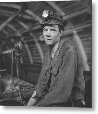 Young Miner Metal Print by John Craven