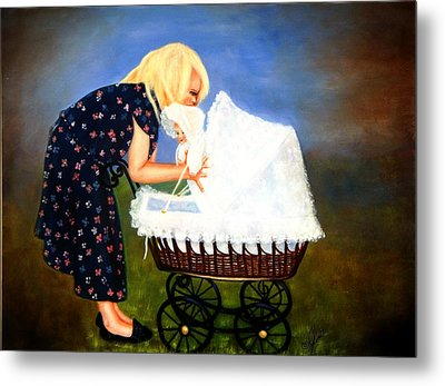Young Mommy Metal Print by Joni McPherson
