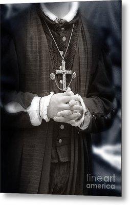 Young Renaissance Priest Metal Print by Jill Battaglia