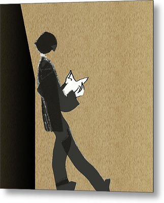 Metal Print featuring the digital art Young Scholar by Asok Mukhopadhyay