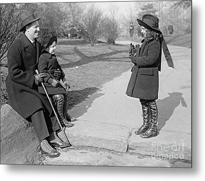 Young Street Photographer Metal Print by Padre Art