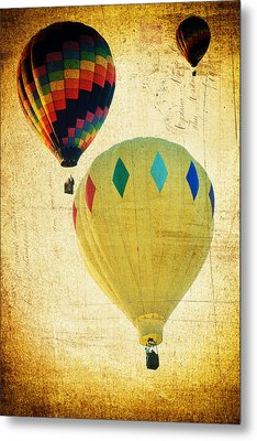 Metal Print featuring the photograph Your Balloon Ride by James Bethanis