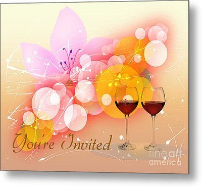 You're Invited Metal Print by Heinz G Mielke