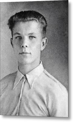 Yuri Gagarin As A Teenager, 1950 Metal Print by Ria Novosti