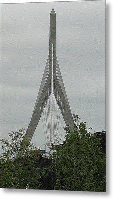 Zakim Bridge Metal Print by Bruce Carpenter
