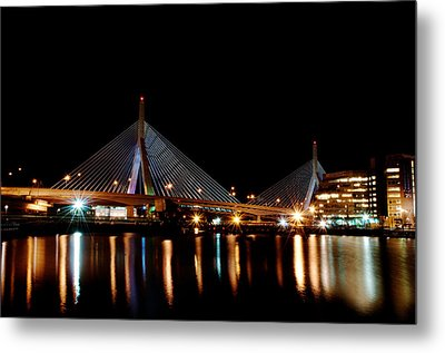 Zakim Over The Charles River Metal Print by Richard Bramante