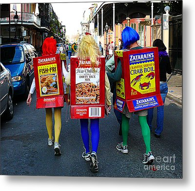 Metal Print featuring the photograph Zatarains Mardi Gras by Jeanne  Woods