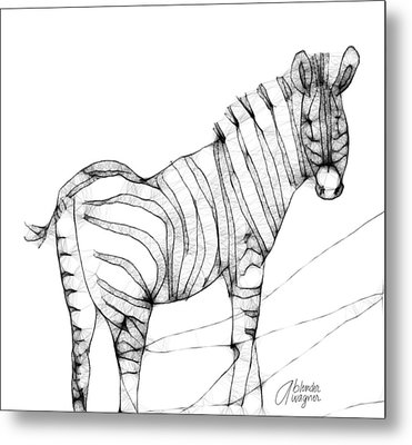 Zebra Doodle Metal Print by Arline Wagner
