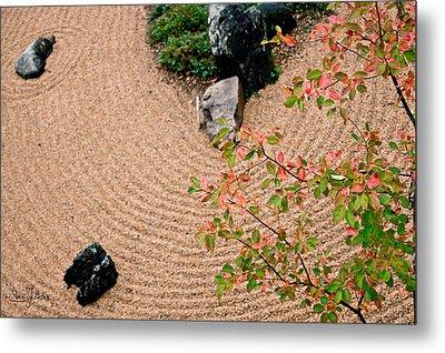Zen Buddhist Meditation Garden No.1 Metal Print by Iuliana Pacso