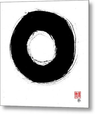 Zen Circle Seven Metal Print by Peter Cutler