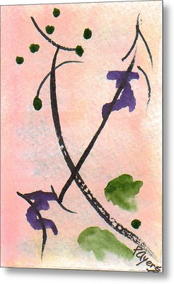 Metal Print featuring the painting Zen Study 01 by Paula Ayers
