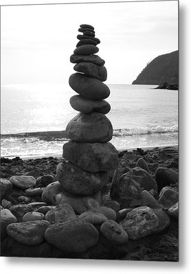 Zen Tower Metal Print by Ramona Johnston