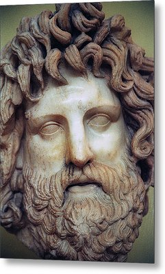 Zeus Head Metal Print by Andonis Katanos