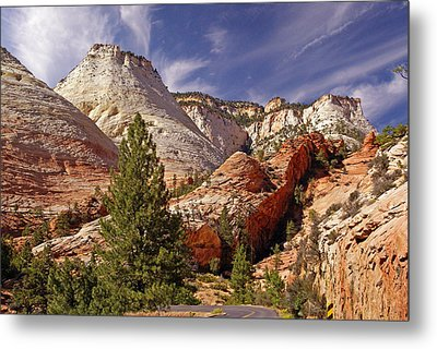 Metal Print featuring the photograph Zion Np by Rod Jones