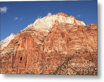 Metal Print featuring the photograph Zion Red Rock by Bob and Nancy Kendrick