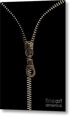 Zip Metal Print by Odon Czintos