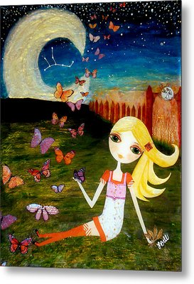 Metal Print featuring the painting Zodiac Virgo by Laura Bell