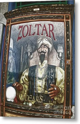 Zoltar The Fortune Teller Metal Print by Gregory Dyer