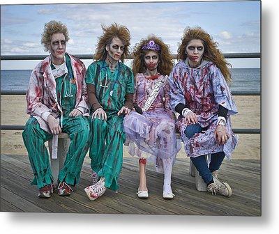 Zombie Medical Family Metal Print by Andrew Kazmierski