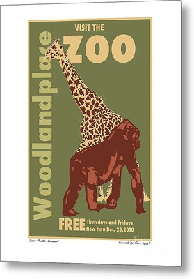 Zoo Poster Metal Print by Kenneth De Tore