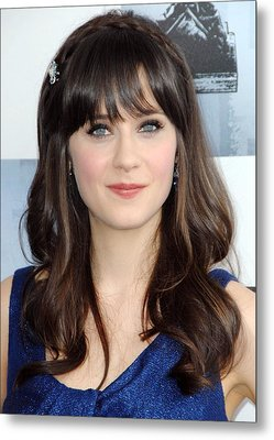 Zooey Deschanel At Arrivals For Film Metal Print by Everett