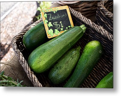 Zucchini Metal Print by Tanya Harrison