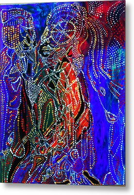 Metal Print featuring the painting Zulu Bride by Gloria Ssali