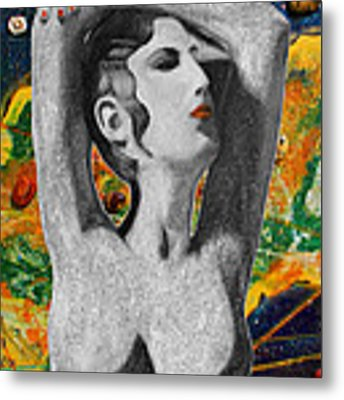 Cyprus Map And Aphrodite Metal Print by Augusta Stylianou