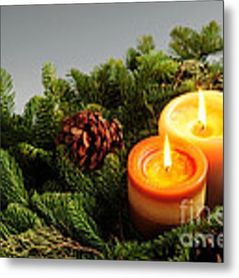 Christmas Candles Metal Print