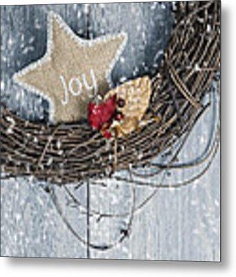 Christmas Wreath Metal Print by Amanda Elwell