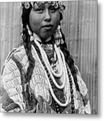 Tlakluit Indian Woman Circa 1910 Metal Print by Aged Pixel