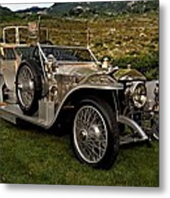 1909 Rolls Royce Siver Ghost Metal Print by Tim McCullough