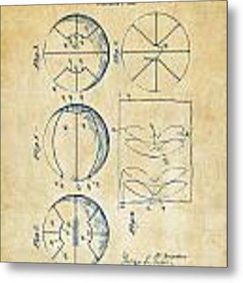 1929 Basketball Patent Artwork - Vintage Metal Print